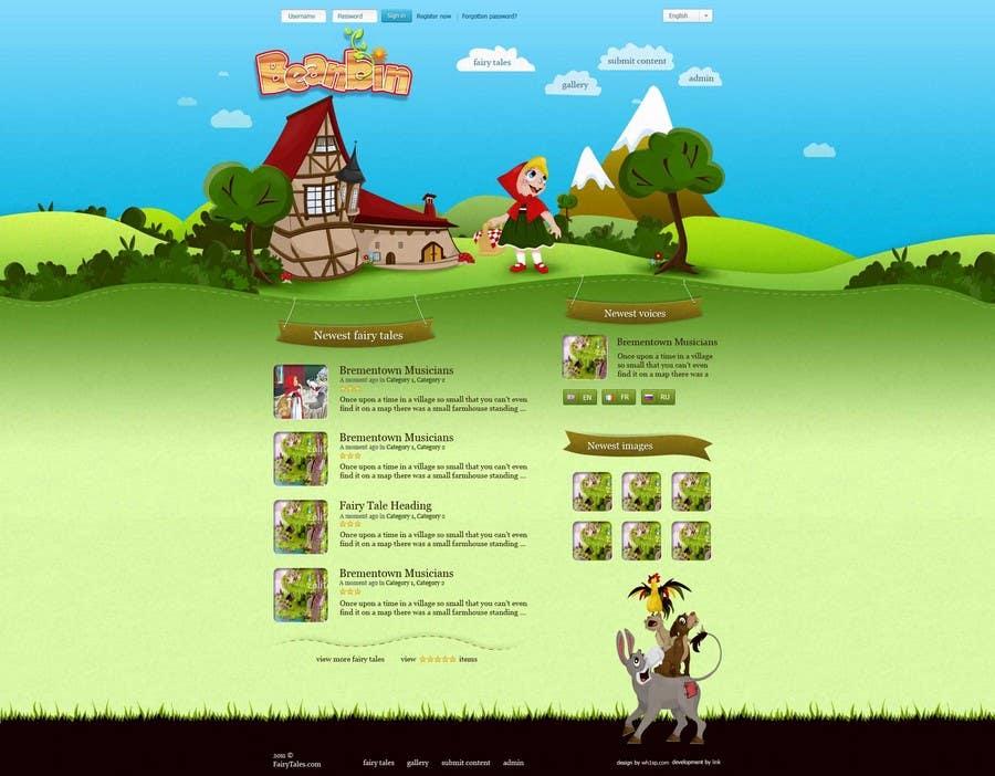 Конкурсная заявка №5 для Fairy tales Graphic Design for beanbin