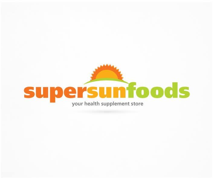 Penyertaan Peraduan #14 untuk Design a Logo for Super Sunfoods: Your Health Supplement Store