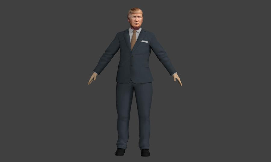 Entry 19 by geraudtasse for create a donald trump 3d for Donald model