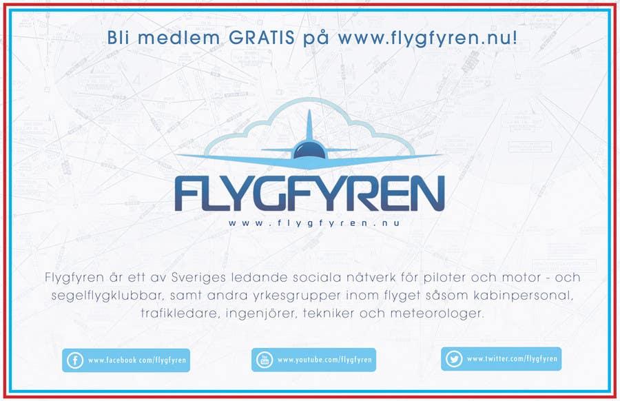 Design a flyer for an aviation social network on the Internet için 17 numaralı Yarışma Girdisi