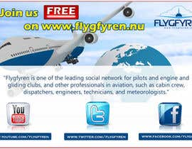 nº 7 pour Design a flyer for an aviation social network on the Internet par publishinggurus