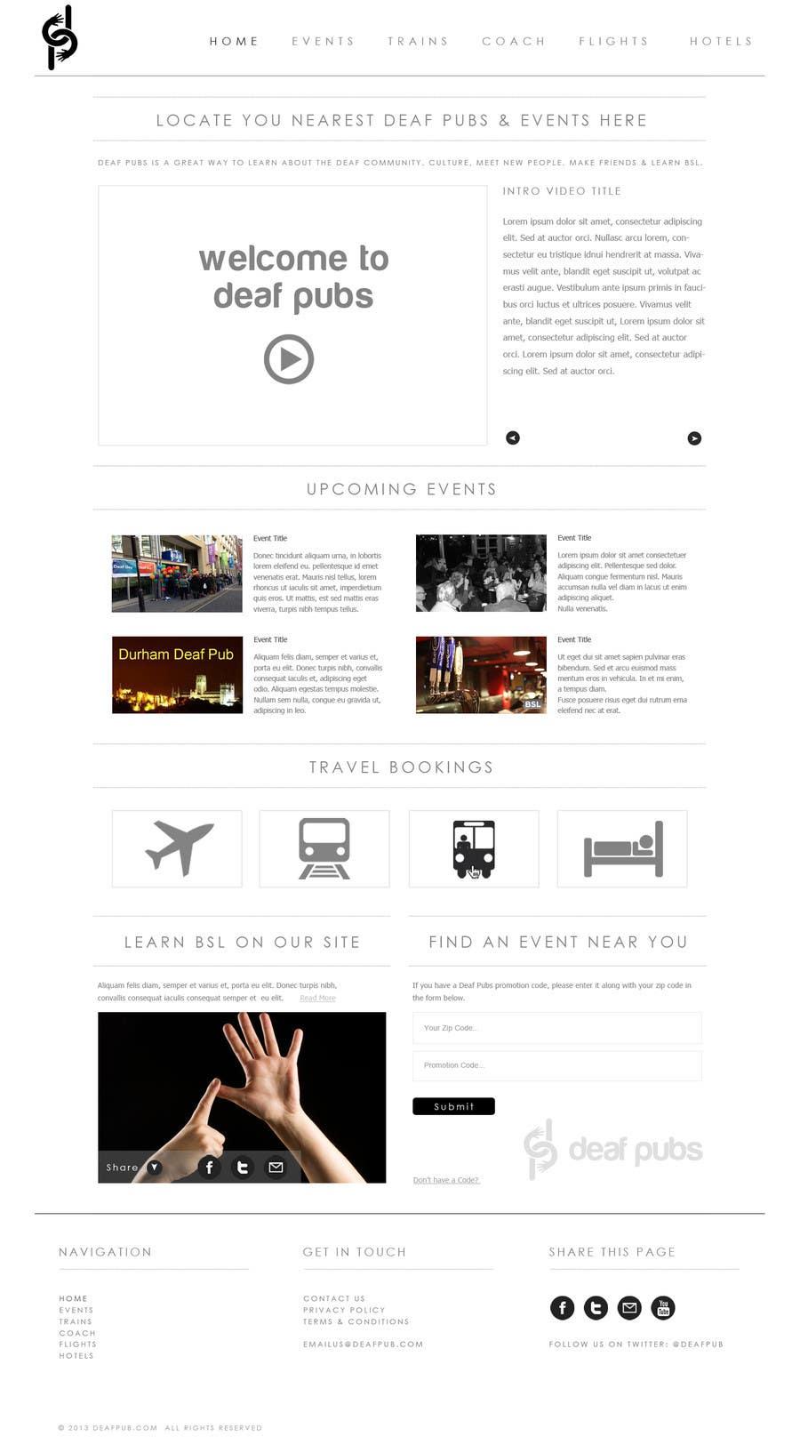 #9 for Design a Website Mockup for Deaf Pubs by JosephNgo