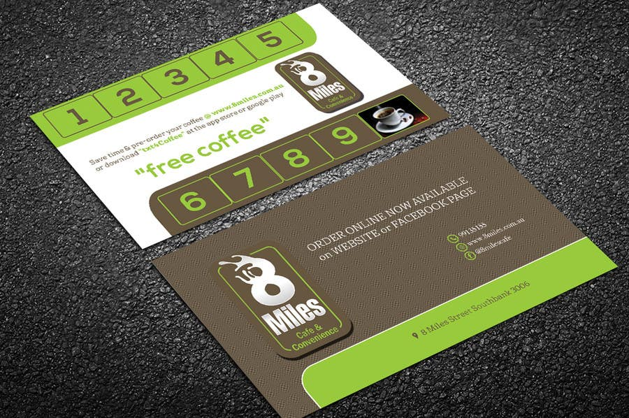 Entry #17 by lipiakhatun586 for Design a Cafe Business Card & Coffee ...