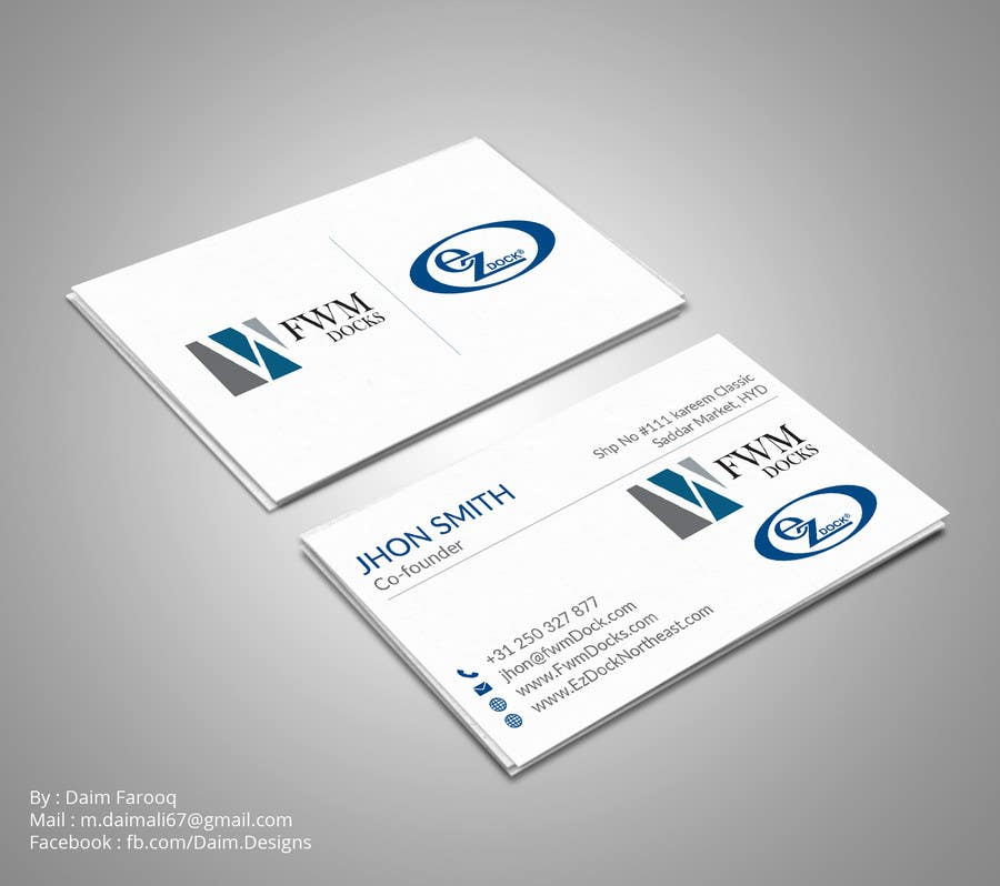 Entry #102 by DaimDesigns for Business Card for Boat Dock Business ...