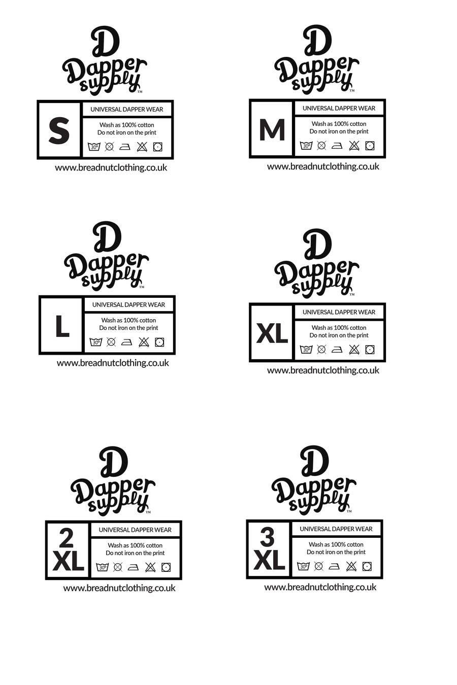 Design A T Shirt Size Labels Freelancer