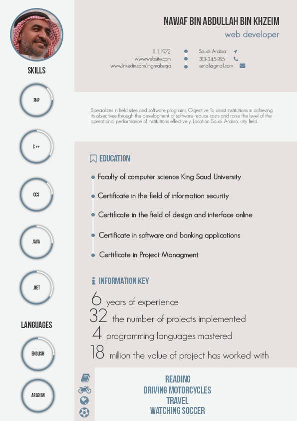 Entry 27 by myrusdesign for i need to buy 10 infographic cv contest entry 27 for i need to buy 10 infographic cv template 6 in yelopaper Images
