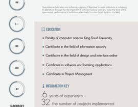 #27 para I need to buy 10 infographic CV template (6 in Arabic Languages, 4 in English) por myrusdesign