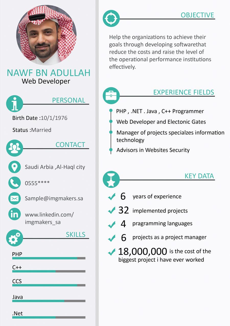 Entry 35 by fatmaelzhraamo for i need to buy 10 infographic cv contest entry 35 for i need to buy 10 infographic cv template 6 in yelopaper Images