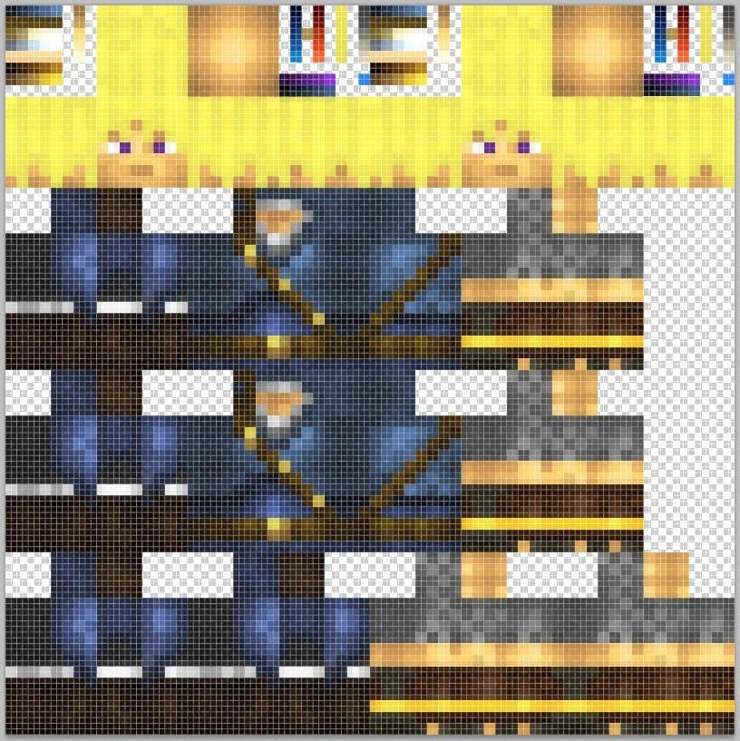 Entry #6 by ClankY for I need to convert this Minecraft skin