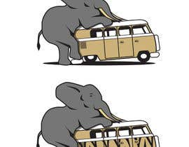 #3 for Logo Design - Elephant mounting a Kombi van by Radiant1976