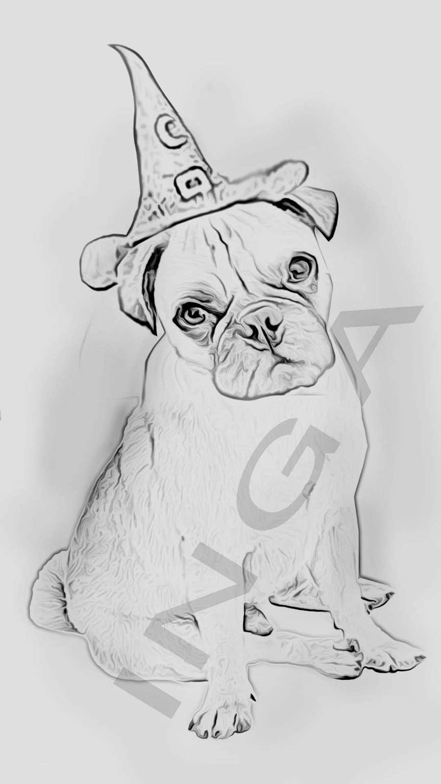 Proposition n°17 du concours Create an Animation/Characterture of my dog