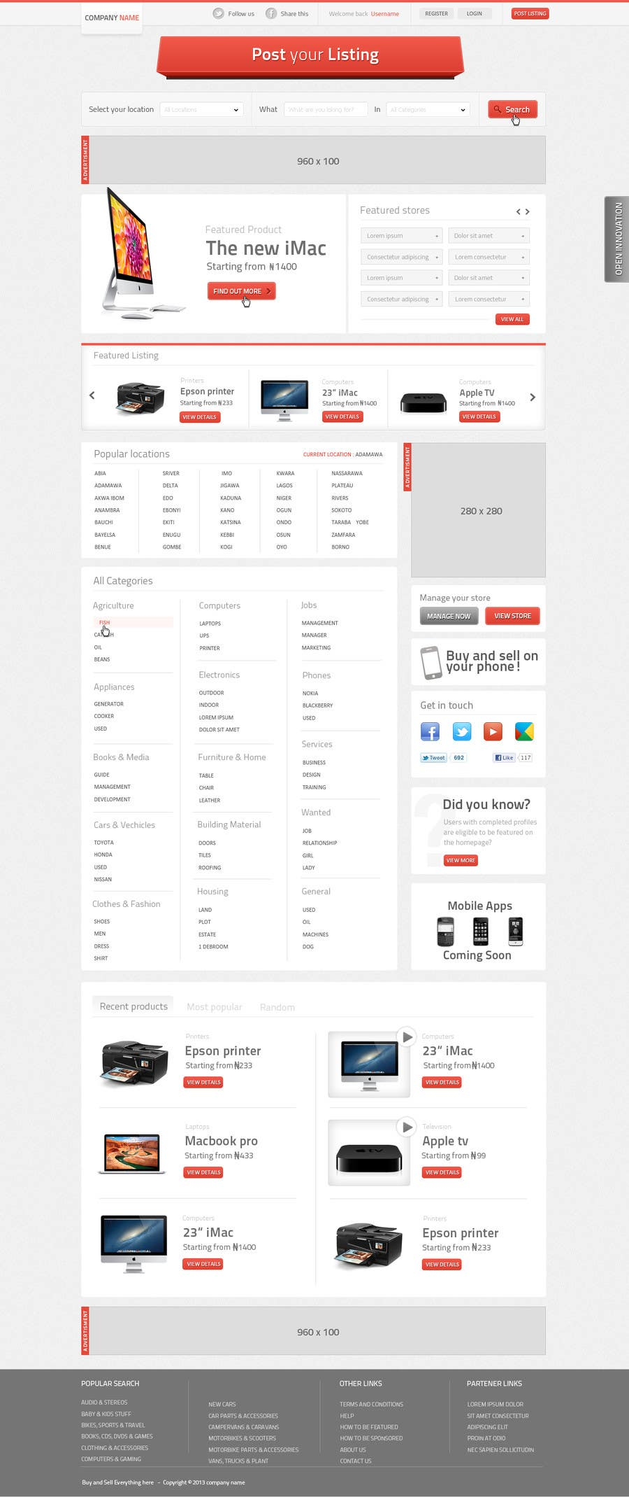 Bài tham dự cuộc thi #                                        18                                      cho                                         looking for good psd designer for classified website