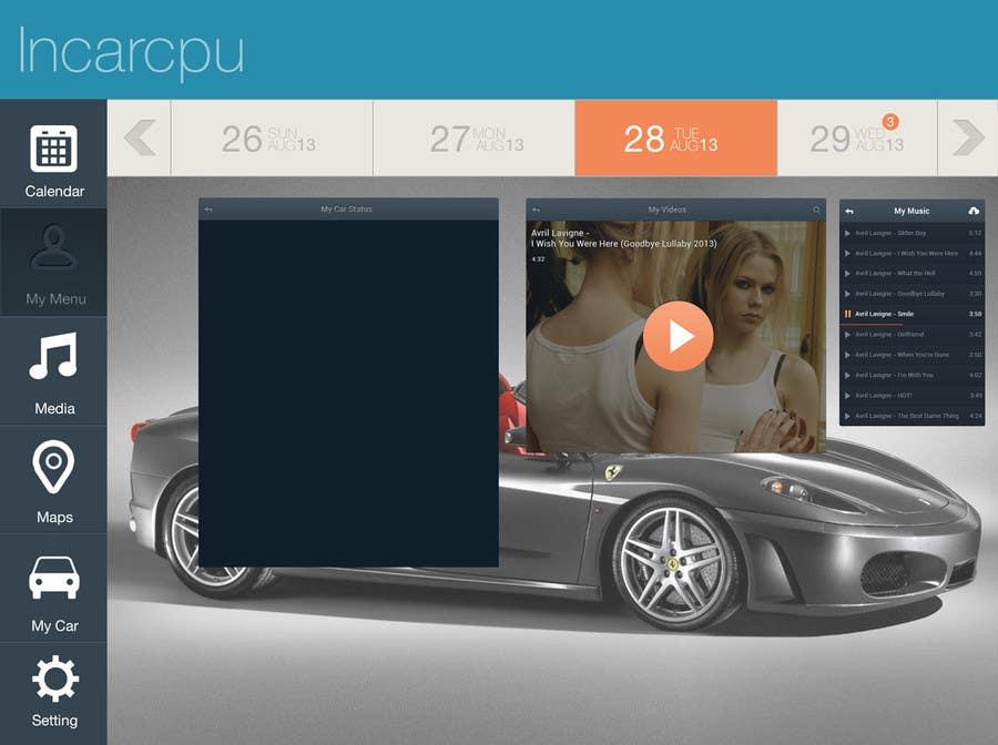 Inscrição nº 12 do Concurso para Design an App Mockup for Metro 8, Automotive GUI