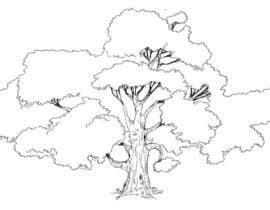 #7 for Illustrate an Oak tree with Character af enticelines