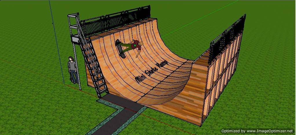 Proposition n°4 du concours Design a Mini Skate ramp