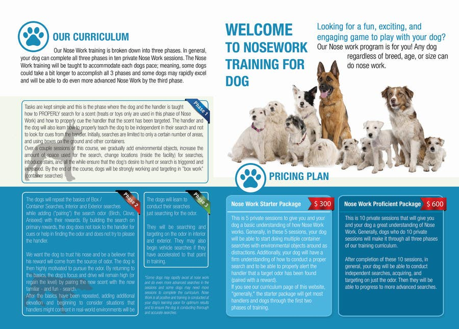 Inscrição nº                                         5                                      do Concurso para                                         Design a Partnership Brochure for Off Leash K9 Raleigh and Pups Day Out