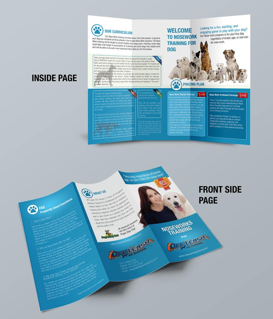 Inscrição nº                                         6                                      do Concurso para                                         Design a Partnership Brochure for Off Leash K9 Raleigh and Pups Day Out