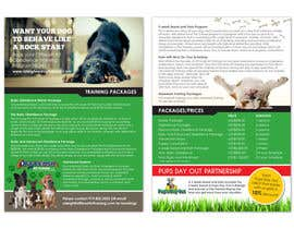 nº 3 pour Design a Flyer for Off Leash K9 Training Raleigh 5x7 front and back par PearlyLim