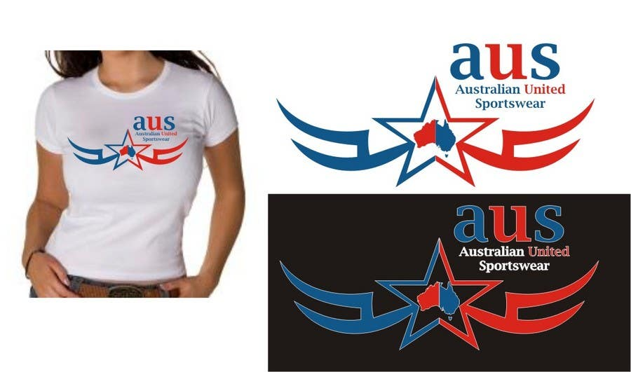Bài tham dự cuộc thi #                                        37                                      cho                                         T-shirt Design for Australian United Sportswear