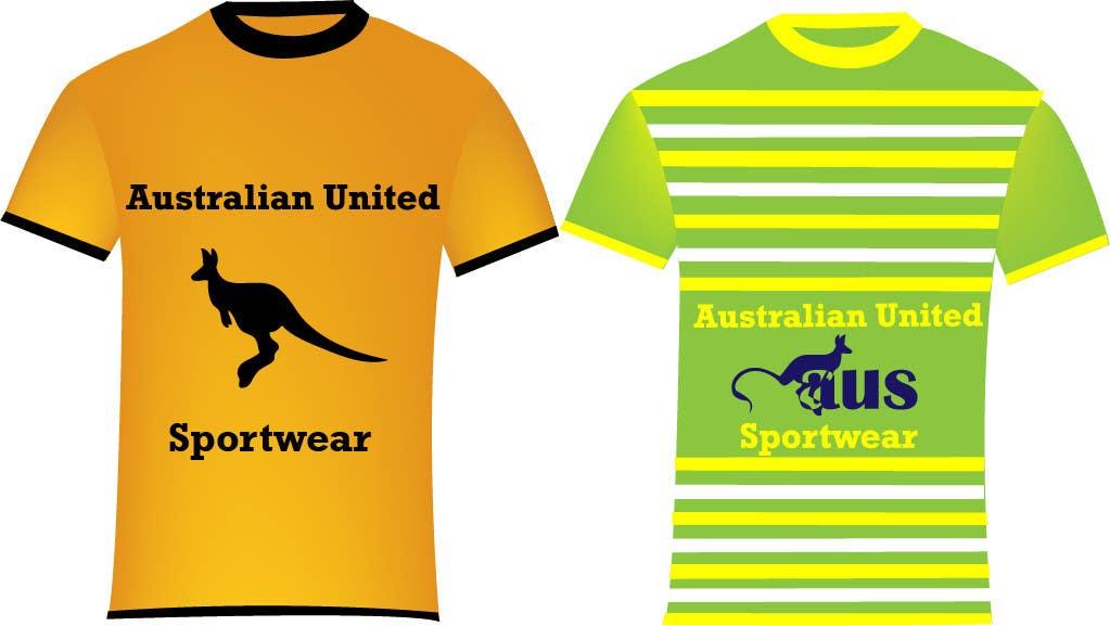 Bài tham dự cuộc thi #                                        25                                      cho                                         T-shirt Design for Australian United Sportswear