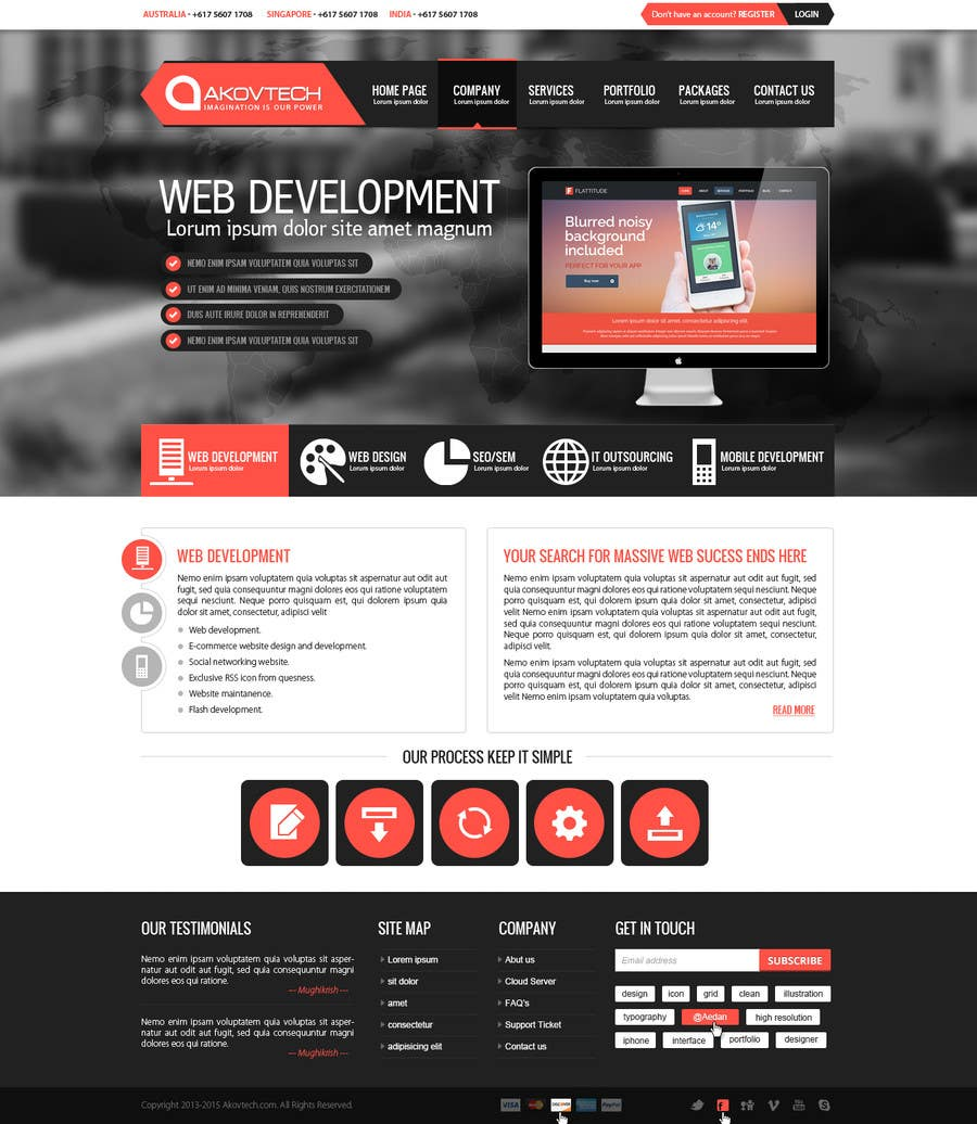 #30 for Design for a Marketing / Consulting website by mughikrish