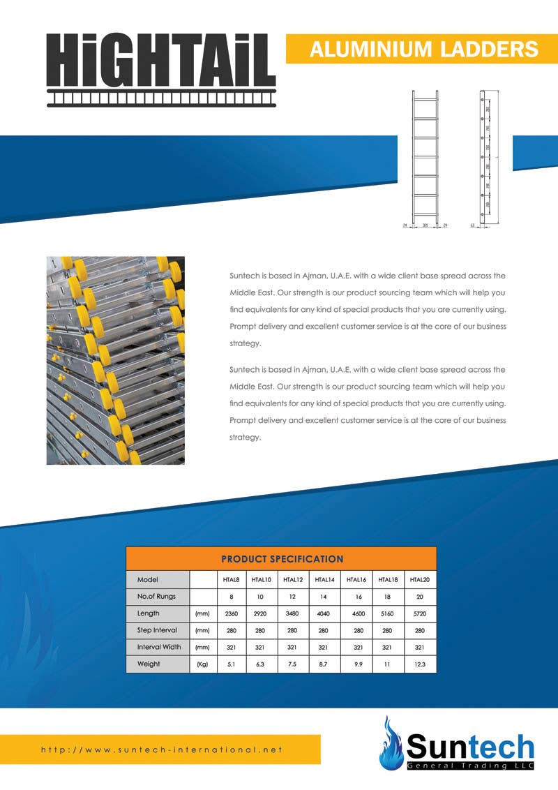 Proposition n°15 du concours Design a Two Page Brochure for HIGHTAIL Ladders & Casters