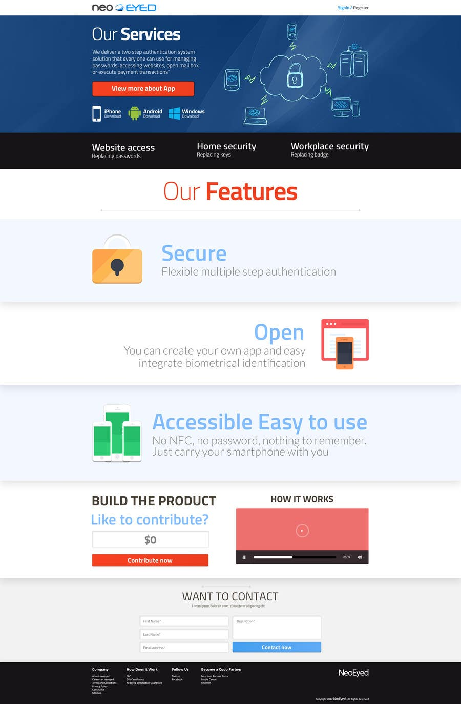 #14 for Create a landing page for neoEYED by snali