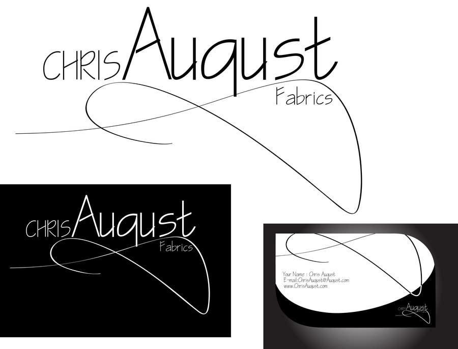 Entri Kontes #303 untukLogo Design for Chris August Fabrics