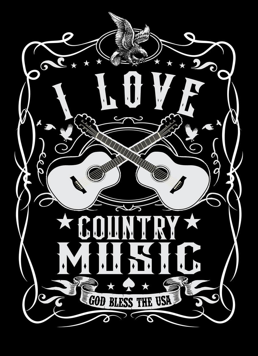 Design a country music themed t shirt freelancer Music shirt design ideas