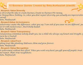 #17 para Write 10 Business Quotes for $75 USD por ziaa25