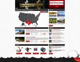 ProliSoft tarafından Design a Website Mockup for Sport Fish Junkies için no 3