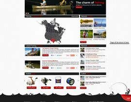 ProliSoft tarafından Design a Website Mockup for Sport Fish Junkies için no 7
