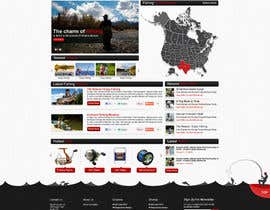 ProliSoft tarafından Design a Website Mockup for Sport Fish Junkies için no 8