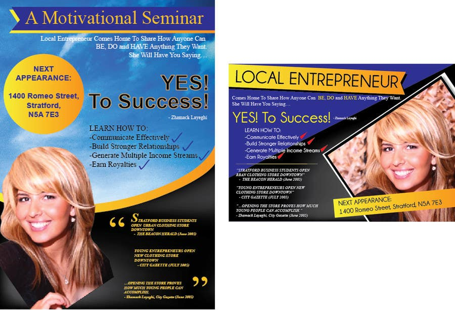 Entry  By Greenworksinc For Design A Flyer For A Motivational
