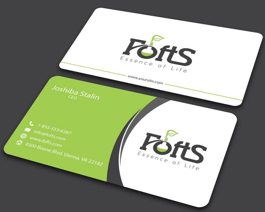 Entry 76 by ALLHAJJ17 for Business Card for Essential oil company
