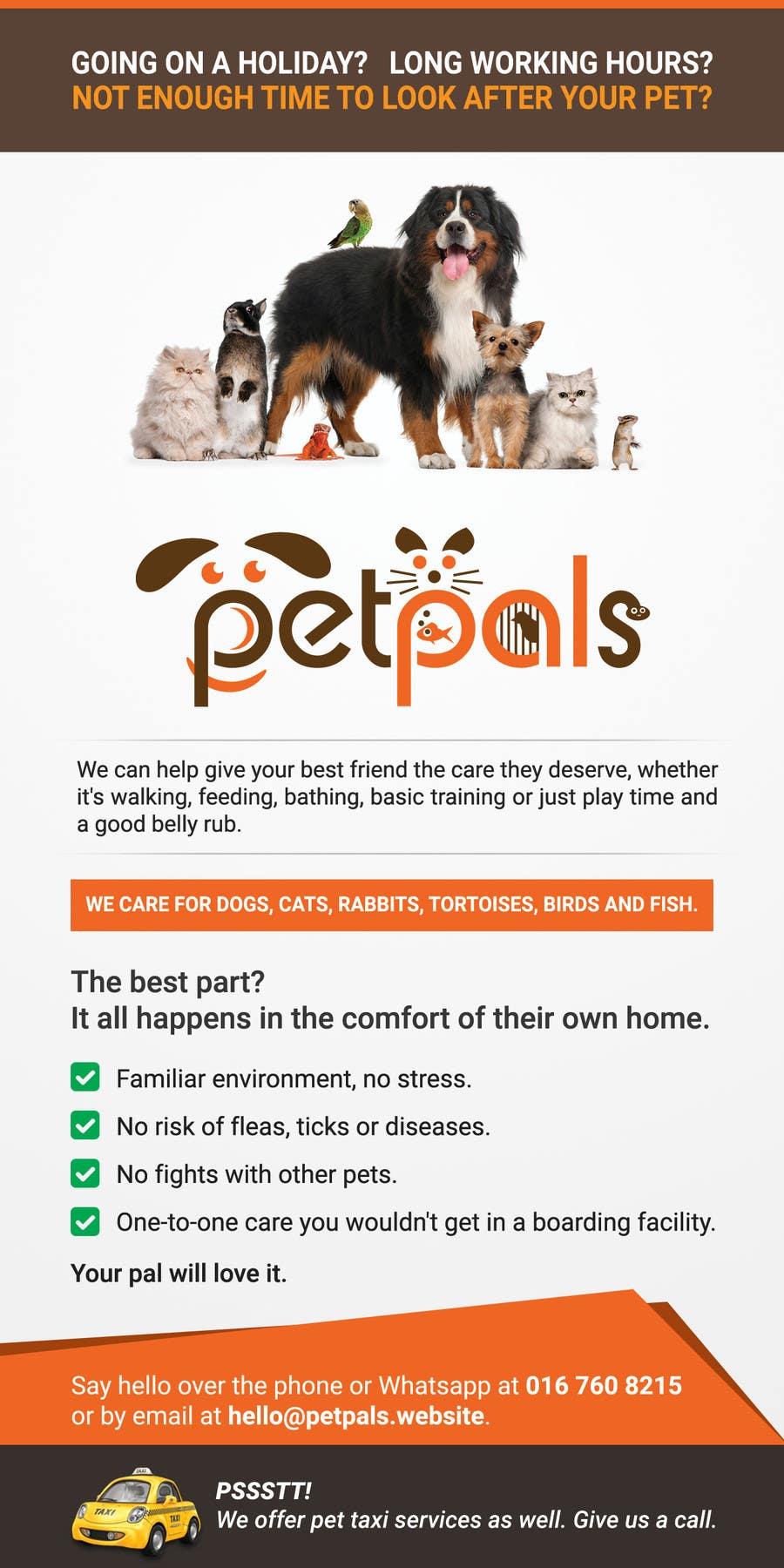 design a flyer for a pet sitting business lancer 21 for design a flyer for a pet sitting business by mufzilkp