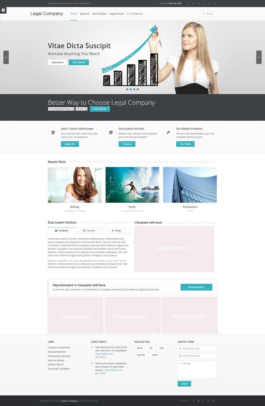 #12 for Create a Wordpress Template for Garage Door Guys responsive website by jamshaidrazaCG