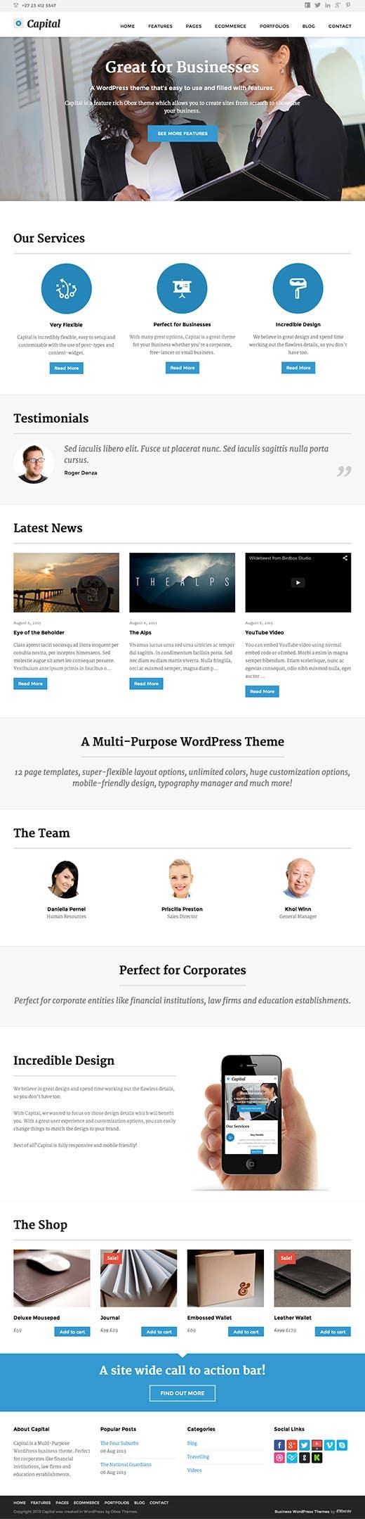 #3 for Create a Wordpress Template for Garage Door Guys responsive website by DestinyzDesignz
