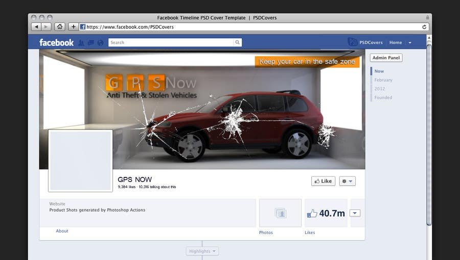 #6 for Design a Facebook coverpage for the website 800sold.co.tt and a Coverpage design for a GPS tracking business by samshams