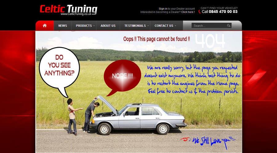 Penyertaan Peraduan #4 untuk Custom 404 page design
