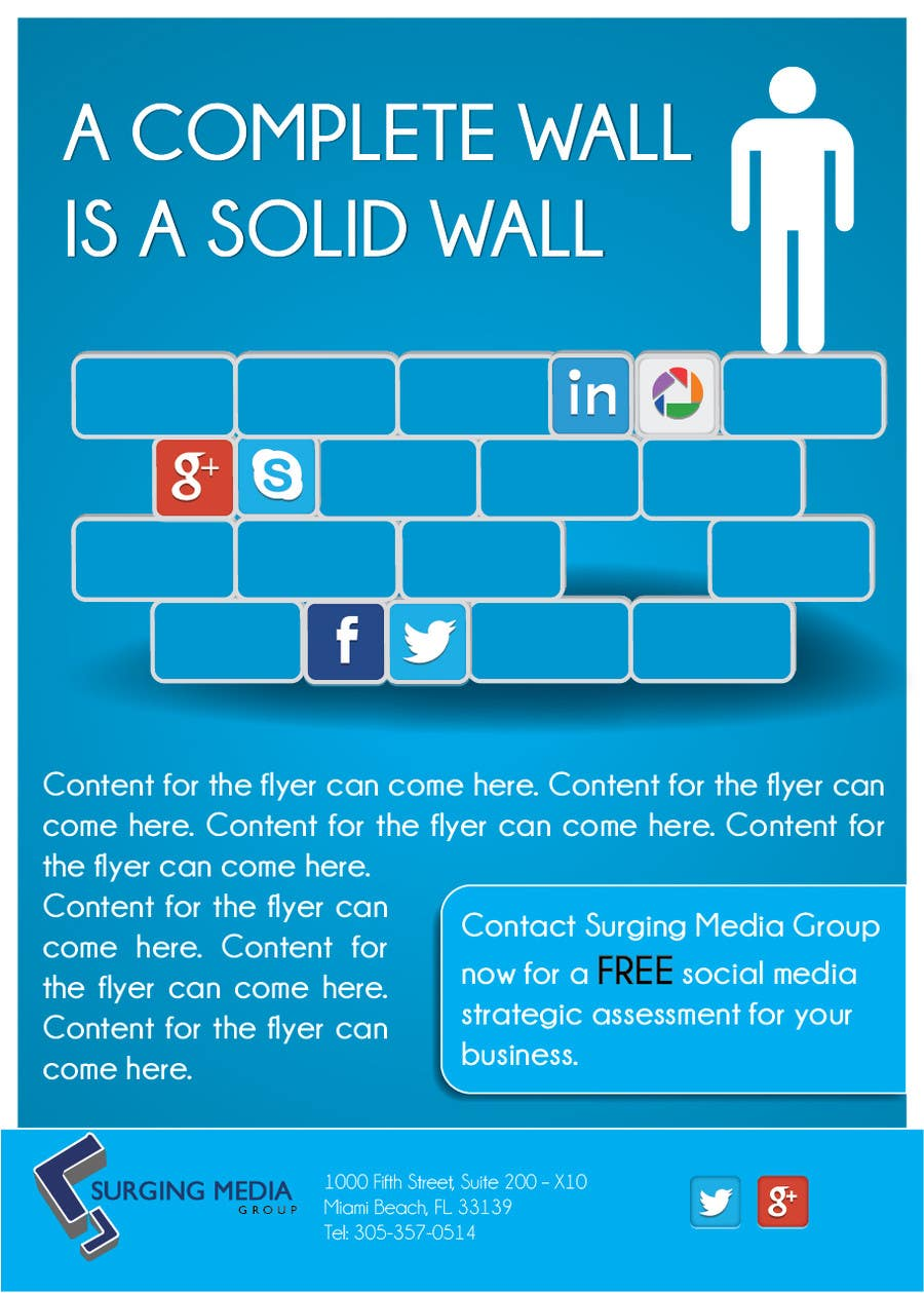 #7 for Design a Flyer for Surging Media Group by blackd51th