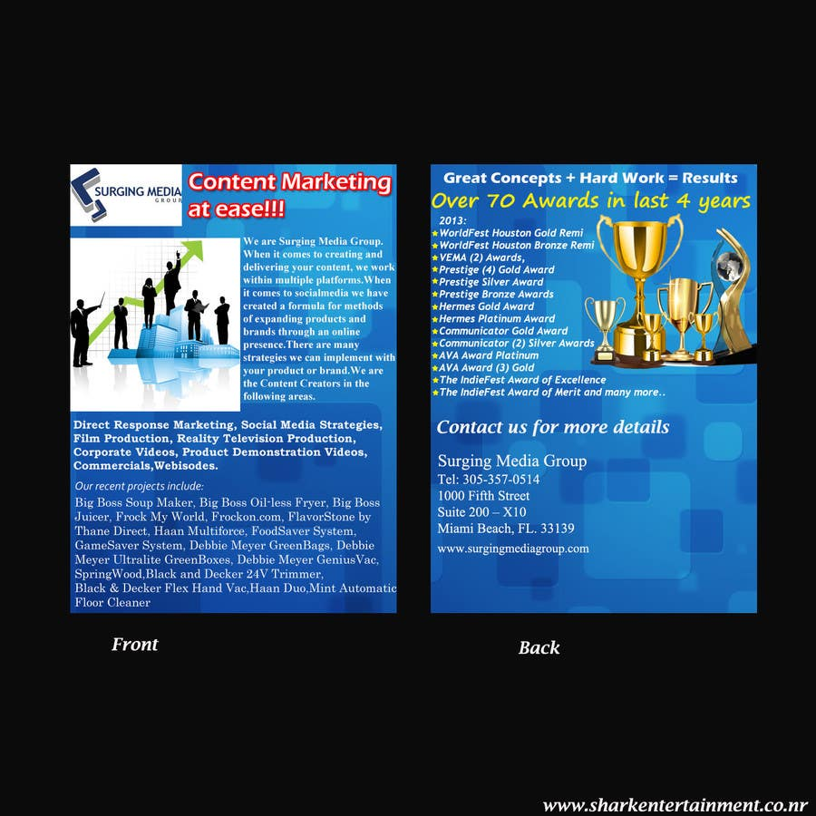 #3 for Design a Flyer for Surging Media Group by sharkmedia