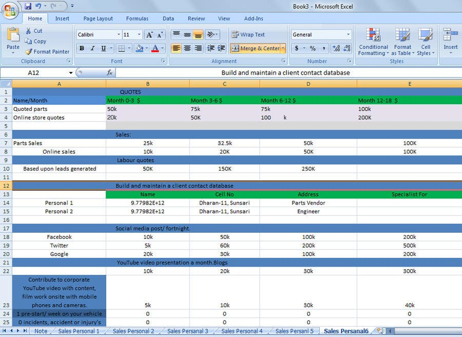 Entry 9 By Oncemoreme For Create An Excel Sheet To Monitor