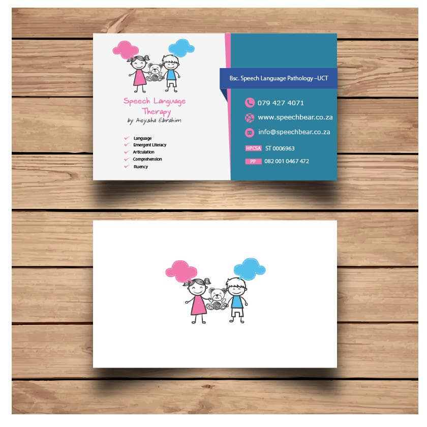 Entry #5 by Aliloalg for Business Card for Speech Therapist | Freelancer