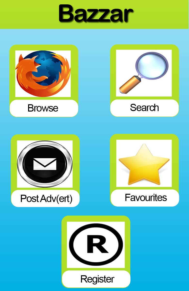 #5 for Design front page for Classifieds Mobile app by MagicalDesigner