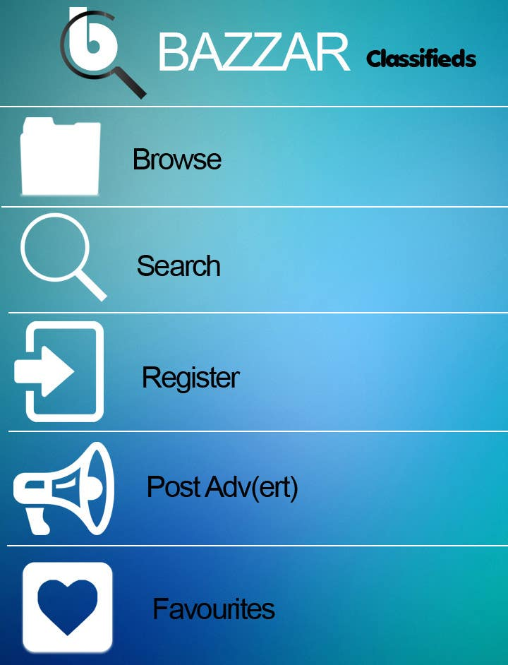 #27 for Design front page for Classifieds Mobile app by MagicalDesigner