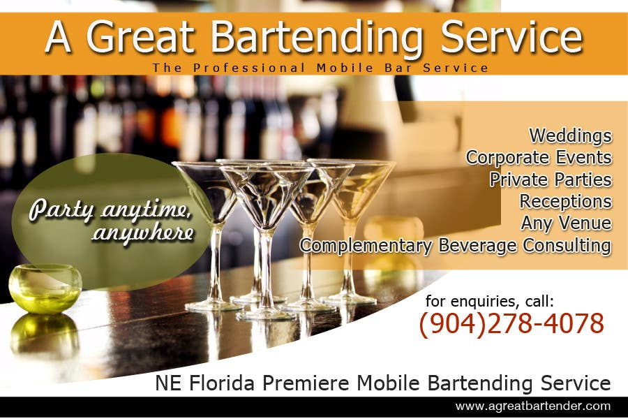 #24 for Design a Flyer for Catering and a Bartending Business - Future Work Needed Also by arteastik