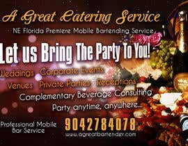 #19 para Design a Flyer for Catering and a Bartending Business - Future Work Needed Also por b74design