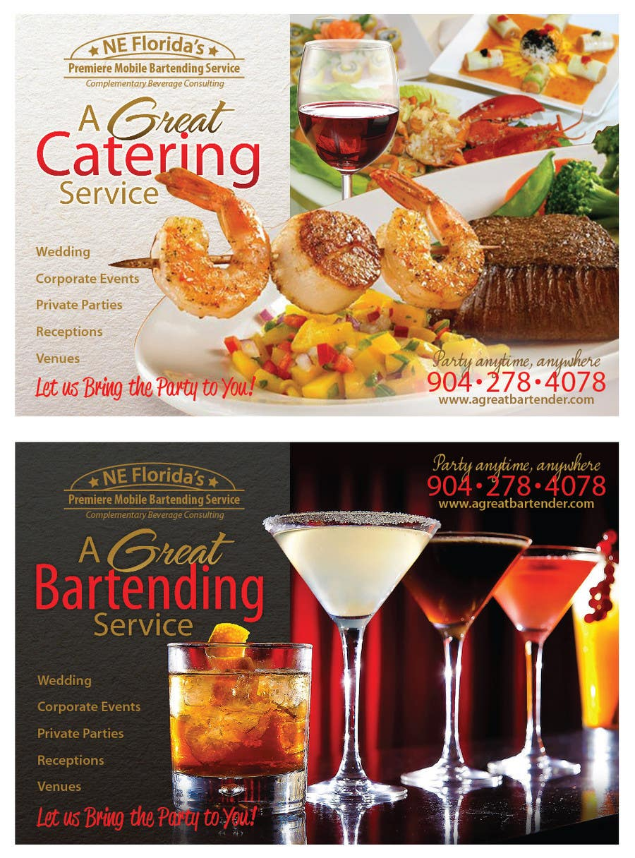 #68 for Design a Flyer for Catering and a Bartending Business - Future Work Needed Also by r063rabad
