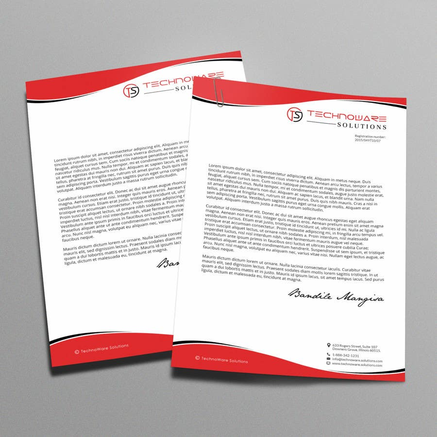 entry 42 by arnee90 for design cool professional letterhead